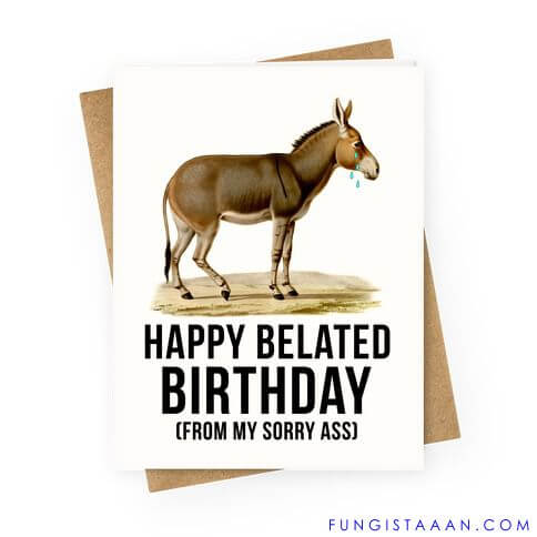 Funny Belated Birthday Images